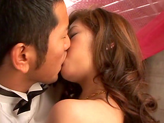 Sexy Miyu Sakurai likes when a friend bangs her in different poses
