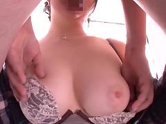 Kinky Inoue Maho likes to slurp on a long cock on the floor