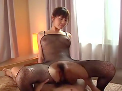 Sexy Ai Takeuchi gets her hairy cunt drilled by a horny friend