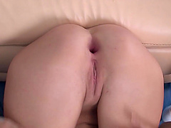 Young Mandy Dee moans loudly while a horny guy bangs her ass