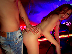 Smoking hot Susana Melo makes a long cock disappear in her mouth