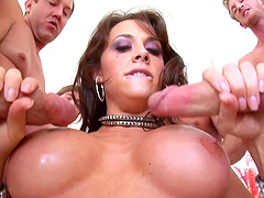 Brunette babe Chanel Preston finally gets to play with big cocks