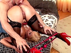 Horny Lucy Love needs to moan while she fucks with a neighbor