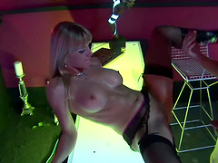 Angel Dark and other girls get their cunts banged at the party