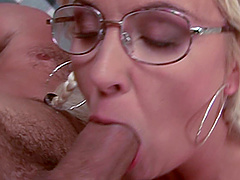 Horny Judy Flash only wants to suck and ride a hard dick