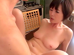Takeuchi Rie rides a long cock like her life depends on it