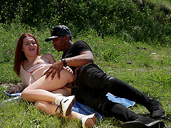 Riding a long dick outdoors pleases Shelley Bliss the most