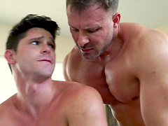 Three naughty gay friends finally get to please each other