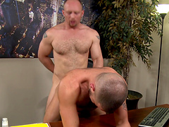 Blonde hunky dude gets his cock jerked 3