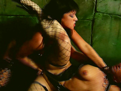 Submissive lesbian one on one with Isabel Ice and Lolly Badcock