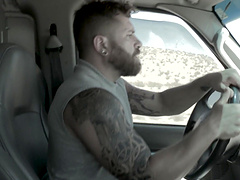 Gay action in the van with Johnny Ryder and Kurtis Wolfe