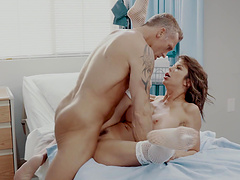 Riding a fat dick pleases naughty Alexis Fawx more than anything