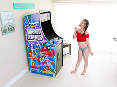 Arcade lover Coralee Summers gets pounded from behind