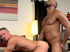 Ray Diesel shows his partner Aston Springs how deep he can take it