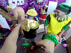 Valentina Sweet in a hardcore group sex party with her friends