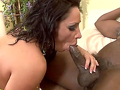 Busty oiled up MILF Vannah Sterling pounded by a big black cock