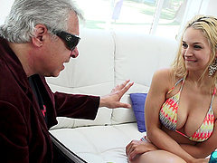Sarah Vandella pussy fucked and cum sprayed with a but plug up her ass
