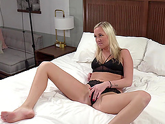 Blonde MILF Jordan gets her pussy stuffed with cock and toys
