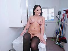 Latina MILF Sheena Ryder bounces her big ass on a hard cock