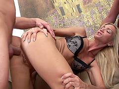 Interracial foursome with MILF babes Cameron Angel and Ulrika