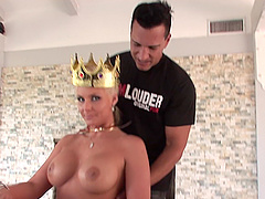 MILF bombshell Phoenix Marie rides a thick cock and swallows cum