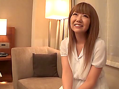 Japanese amateur babe blows and rides dick in a miniskirt