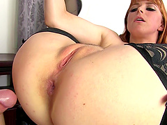 Big ass of redhead Penny Pax pounded hardcore missionary style