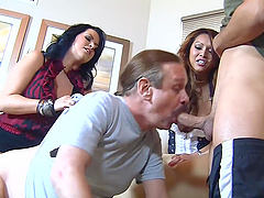 Bisexual foursome with Gabriel Dalessandro and Lacie James
