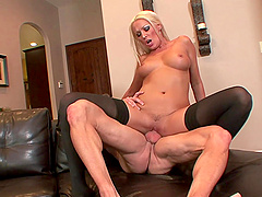 MILF blonde whore Diana Doll gets cum on her asshole