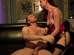 Riding a big load of dick makes Lacy Lennon reach an orgasm