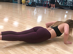 Flexible babe Kenzie shows off her hot body while working out