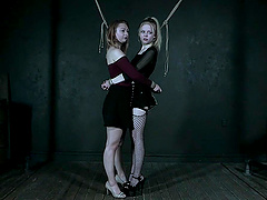 Blonde sweete Alice likes to be tied up and choked hard