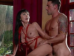 Marica Hase gets fucked by hard cock on the desk while she moans