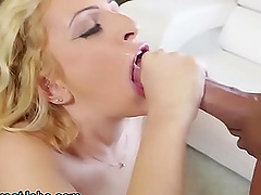 amazing blonde blowing her friend's hard shaft like tomorrow never comes
