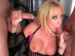 Double penetration with two guys is the only thing that Amy Brooke needs