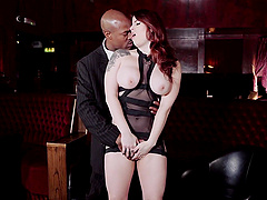 Black dude destroys wet pussy of Lucia Love with his black dick