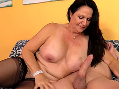 After a blowjob and a titjobLaylani Wood gets fucked by a dude
