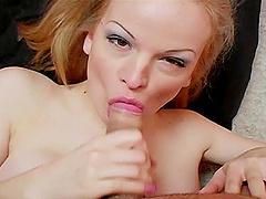 Janessa Jordan blows friend's hard friend's penis before rough sex