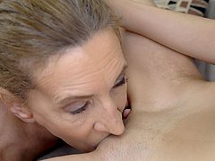 Ashley Ocean gets her pussy licked by her horny lesbian friend