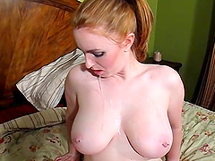 Hor redhead adores to feel hard penis in her wet and shaved pussy