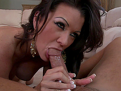 Instead of a lunch Raquel Devine takes hard penis in the kitchen