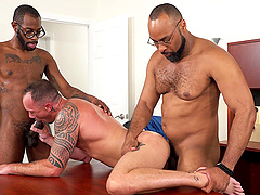 Gay hardcore group sex is all that Kirk Cummings wants to experience