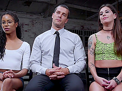 Dominant Kira Noir adores torture and BDSM threesome with friends