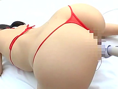 Horny Asian feeds her pussy and mouth with hard friend's penis