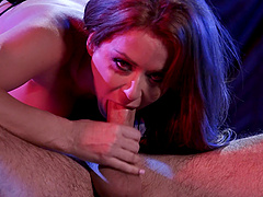 Pornstar Emily Addison gets fucked hard from behind and loves it