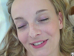 Closeup POV amateur video of Amy Pink getting fucked at home