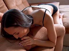 Hot ass amateur Lilu Moon gets her pussy fucked balls deep