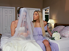 Passionate lesbian sex before the wedding - Abella Danger and Jill Kassidy