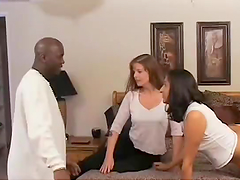 Two White Chicks And A Well Hung Black Stud Have Some Dirty Fun