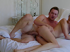 Messy facial ending after passionate fucking with redhead Andi Rye
